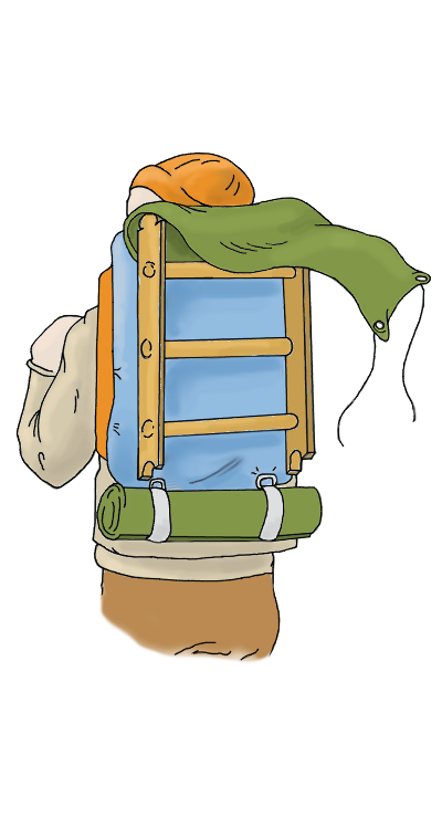 Backpack Ladder